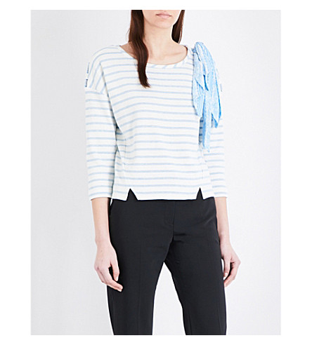 CLAUDIE PIERLOT Tobby striped sweater (Ecru