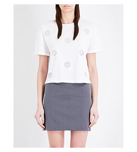 CLAUDIE PIERLOT Taratata 平纹针织棉 T 恤 (本色