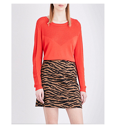 CLAUDIE PIERLOT Mahe knitted top (Orange