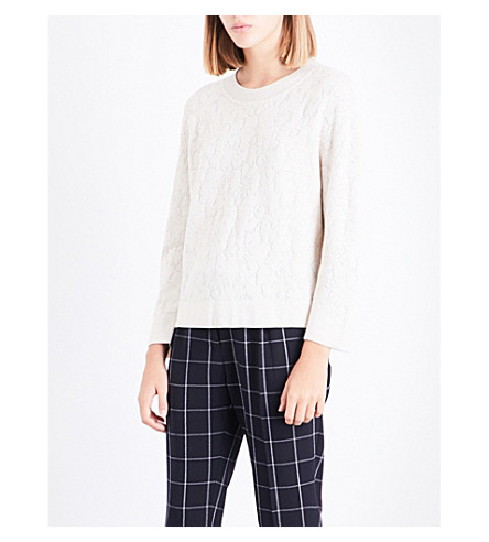 CLAUDIE PIERLOT Textured jacquard-knit jumper (Vanille