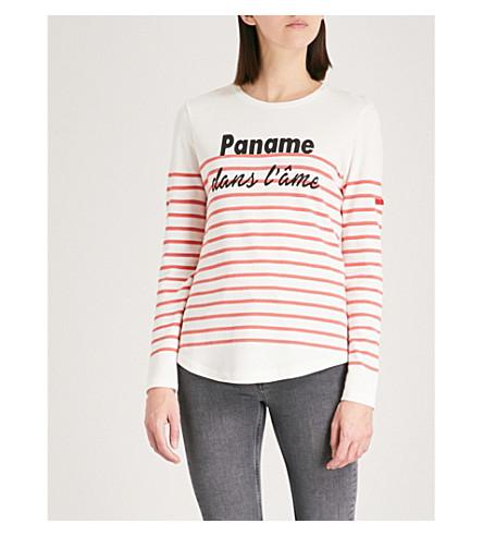 CLAUDIE PIERLOT Paname dans l'âme cotton-blend top (Cream