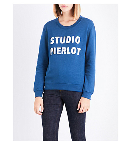 CLAUDIE PIERLOT Studio Pierlot cotton-blend sweatshirt (Canard