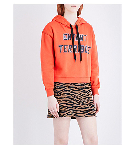 CLAUDIE PIERLOT Terrible jersey hoody (Orange