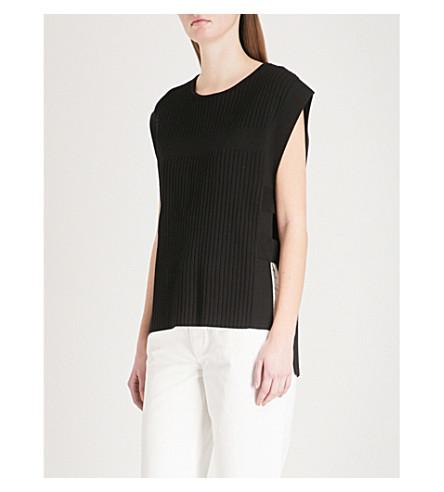 CLAUDIE PIERLOT Strap-detail knitted top (Black