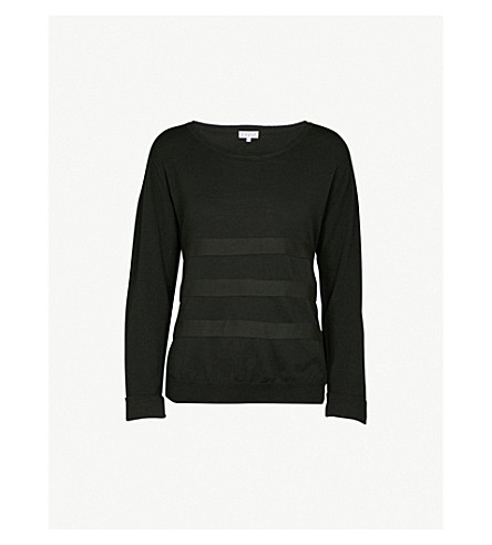 CLAUDIE PIERLOT Strapped wool jumper (Vert+fonce