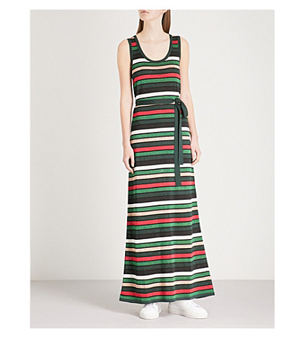 CLAUDIE PIERLOT Striped metallic knitted dress (Multi-coloured