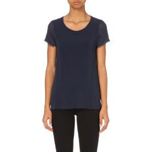 Short-sleeved chiffon t-shirt