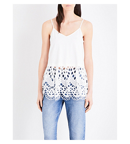 CLAUDIE PIERLOT Maille cotton top (Ecru