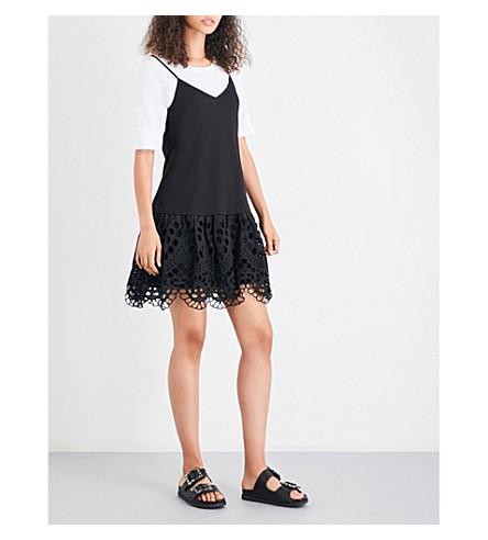 CLAUDIE PIERLOT Tina sleeveless cotton-jersey dress (Noir