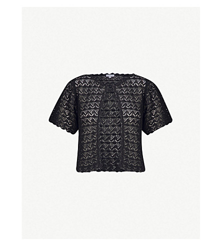 CLAUDIE PIERLOT Patterned knitted cardigan (Black