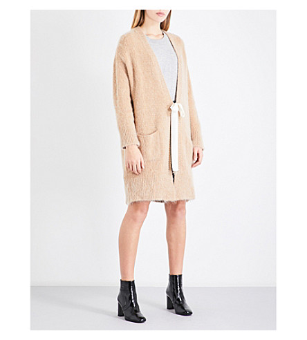 CLAUDIE PIERLOT Oversized knitted cardigan (Camel
