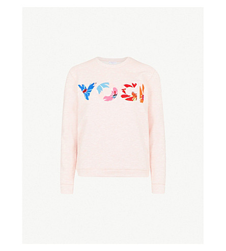 CLAUDIE PIERLOT Yogi cotton-blend sweatshirt (Pink