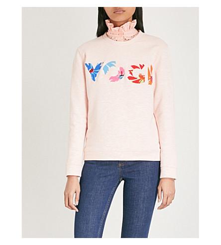 CLAUDIE PIERLOT Yogi cotton-blend sweatshirt (Pink