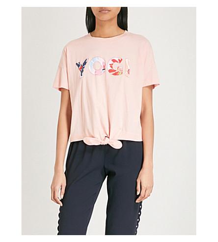 CLAUDIE PIERLOT Maillie knot cotton T-shirt (Pink