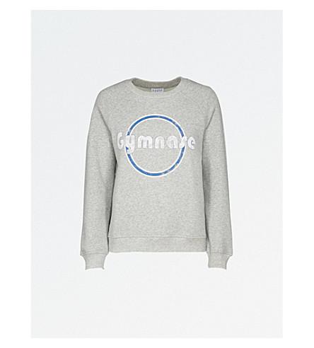 CLAUDIE PIERLOT Gymnase-打印平纹针织面料卫衣 (皮诺 +
