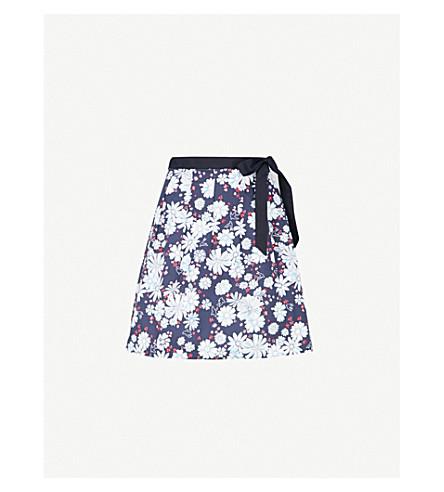 CLAUDIE PIERLOT Floral cotton skirt (Blue
