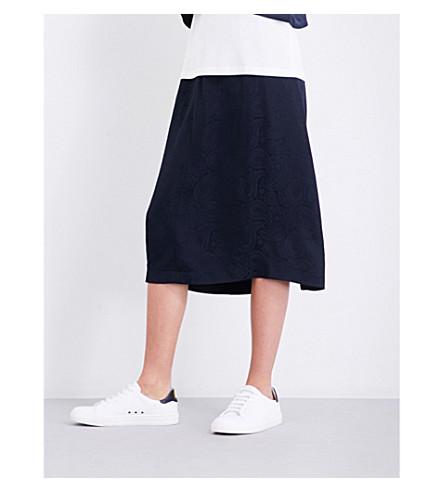 CLAUDIE PIERLOT Floral-jacquard skirt (Marine