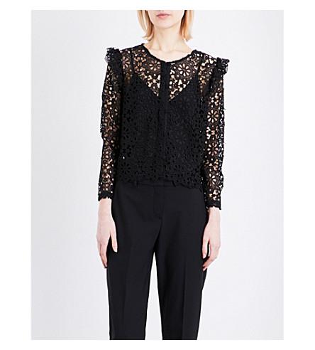 CLAUDIE PIERLOT Calling lace shirt (Noir
