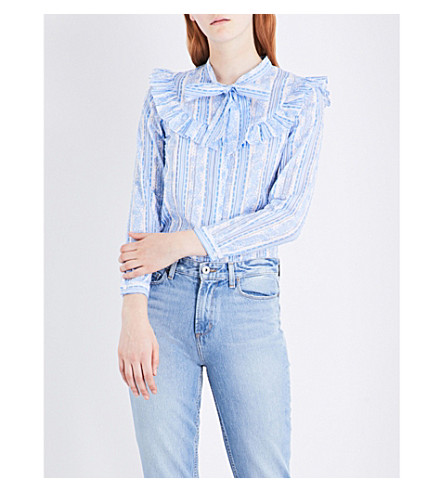 CLAUDIE PIERLOT Coquelicot cotton blouse (Ecru