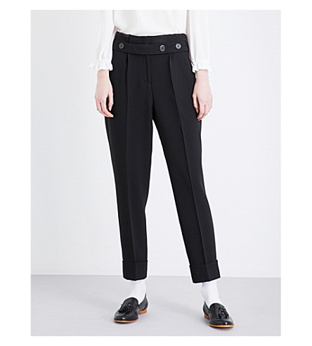 CLAUDIE PIERLOT Patio woven trousers (Noir