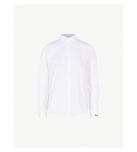 CLAUDIE PIERLOT Catchy cotton shirt (Cream