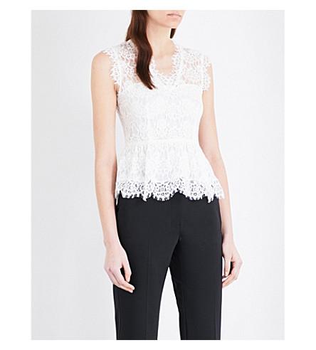 CLAUDIE PIERLOT Bobby floral-lace top (Ecru