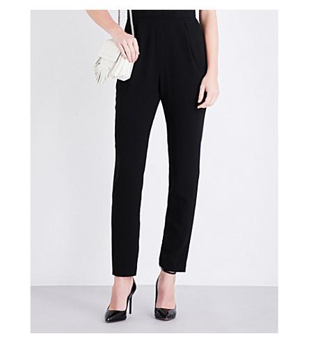 CLAUDIE PIERLOT Jack floral lace crepe jumpsuit (Noir