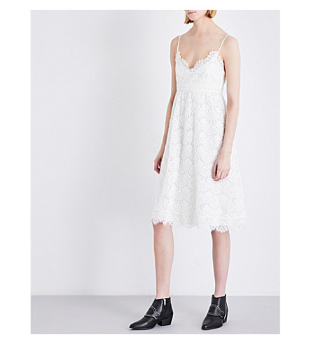 CLAUDIE PIERLOT Rieuse lace dress (Ecru