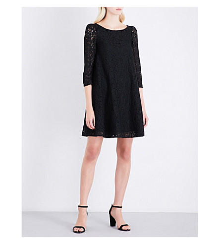 CLAUDIE PIERLOT Floral-lace loose-fit dress (Noir