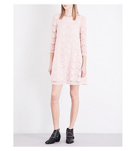 CLAUDIE PIERLOT Rififi floral-lace shift dress (Rose+pale