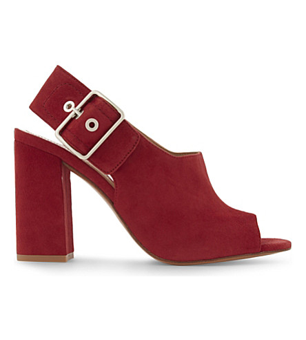 CLAUDIE PIERLOT Audrey suede heeled sandals (Rouge