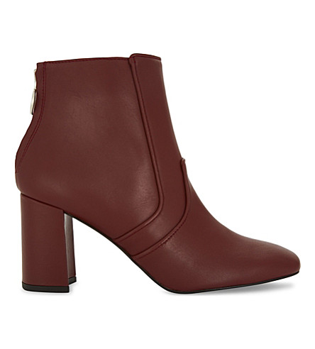 CLAUDIE PIERLOT Chaussure leather block heel boots (Brick