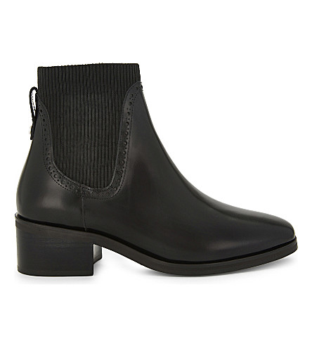 CLAUDIE PIERLOT Chaussure leather ankle boots (Noir