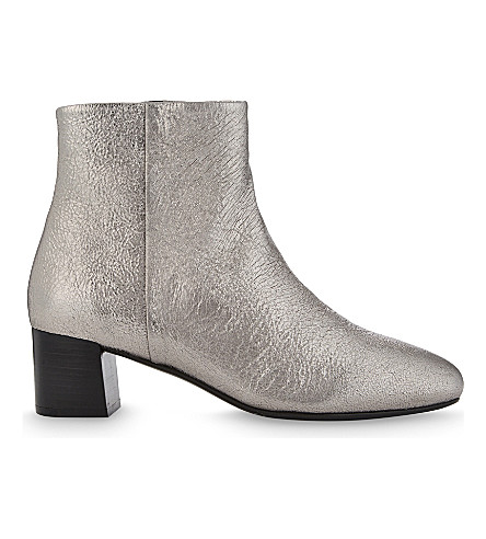 CLAUDIE PIERLOT Adore leather heeled ankle boots (Argent
