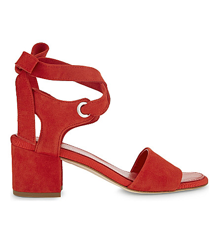 CLAUDIE PIERLOT Ariane suede heeled sandals (Orange
