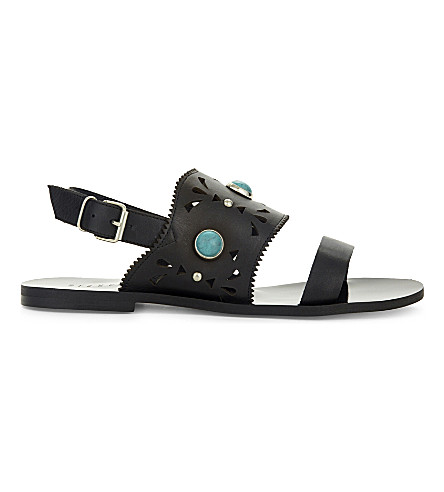 CLAUDIE PIERLOT Almeria leather sandals (Noir
