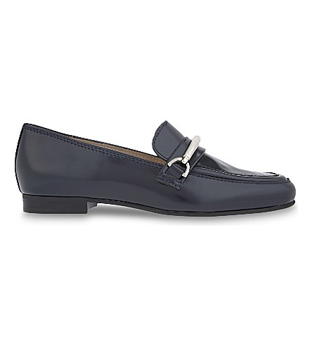 CLAUDIE PIERLOT Autriche leather loafers (Marine