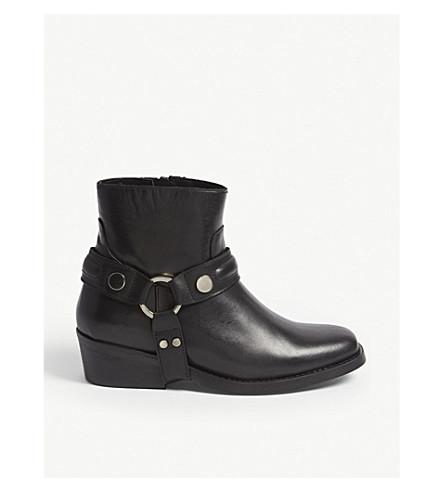 CLAUDIE PIERLOT Leather biker boot (Black