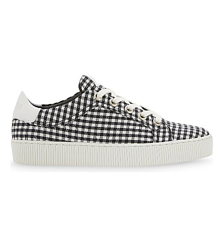 CLAUDIE PIERLOT Azur lace-up trainers (Noir+et+blanc