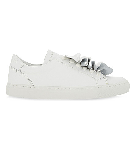 CLAUDIE PIERLOT Angelique leather trainers (Blanc