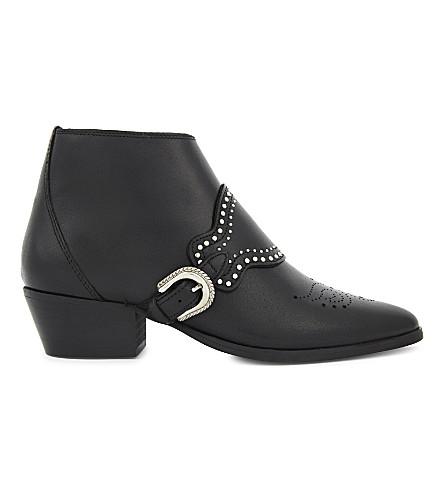 CLAUDIE PIERLOT Aride leather ankle boots (Noir