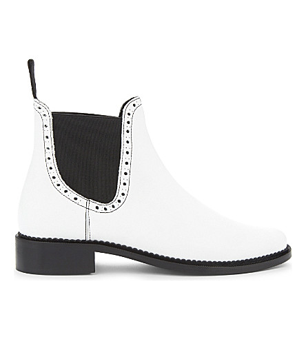 CLAUDIE PIERLOT Aristo leather Chelsea boots (Blanc