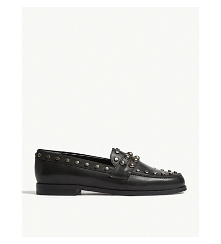 CLAUDIE PIERLOT Amoi leather studded shoes (Black