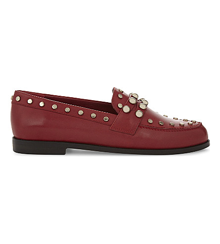 CLAUDIE PIERLOT Amoi leather studded shoes (Red
