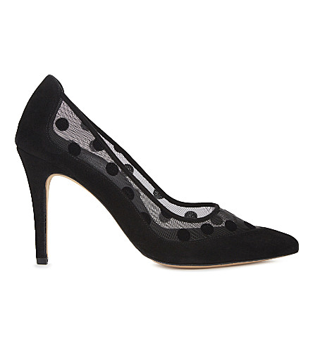 CLAUDIE PIERLOT Aube leather courts (Noir