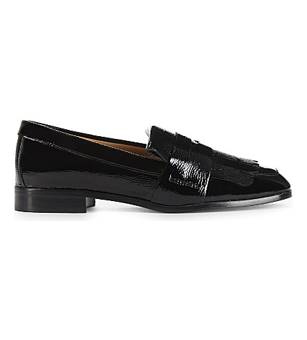 CLAUDIE PIERLOT Patent leather loafers (Noir