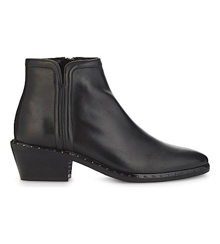 CLAUDIE PIERLOT 一周一双皮革踝靴 (黑色