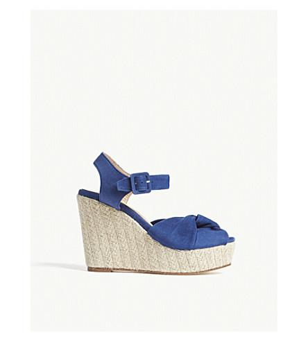 CLAUDIE PIERLOT Azya suede wedge sandals (Blue