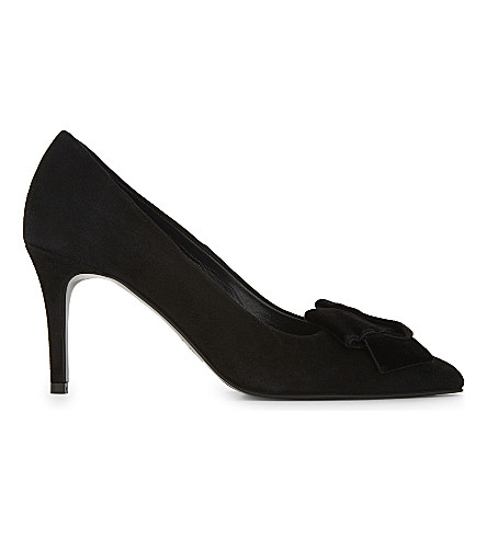 CLAUDIE PIERLOT Altesse suede heeled pumps (Noir