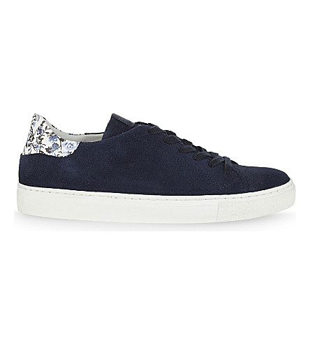 CLAUDIE PIERLOT Azote suede lace-up trainers (Marine